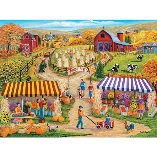 Terrie's Fall Festival 300 Large Piece Jigsaw Puzzle
