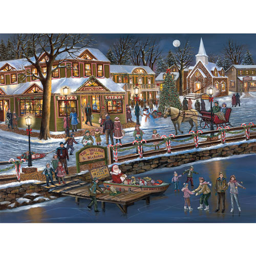St. Nicholas Village 300 Large Piece Jigsaw Puzzle