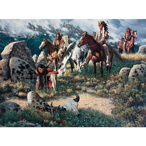Scouting The High Ridge 300 Large Piece Jigsaw Puzzle
