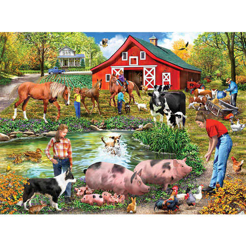 Farm By The Pond 1000 Piece Jigsaw Puzzle