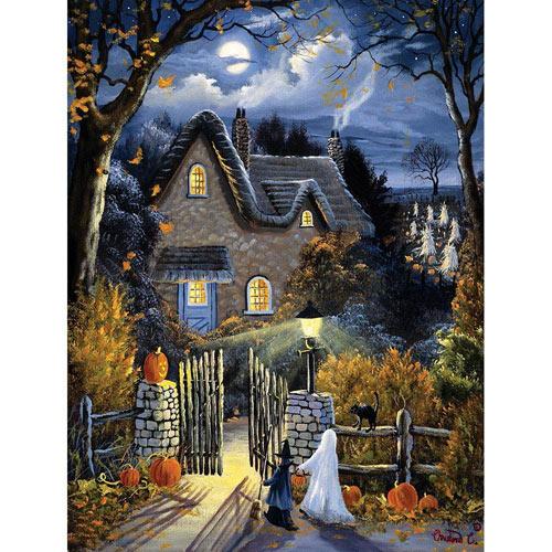 Tess's Halloween 300 Large Piece Glow-In-the-Dark Jigsaw Puzzle