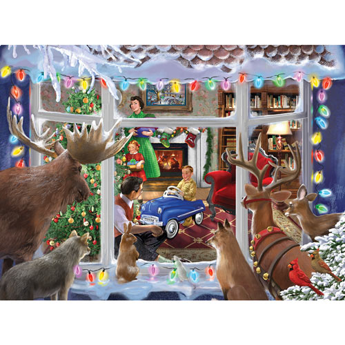 Christmas Creatures 1000 Piece Glow-In-The-Dark Jigsaw Puzzle