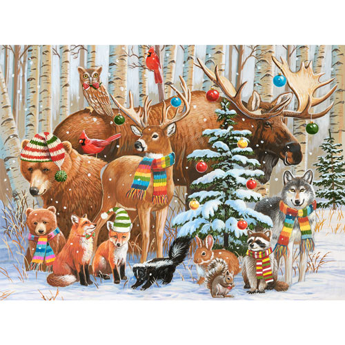 Magical Forest Holiday 300 Large Piece Jigsaw Puzzle