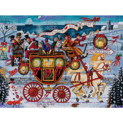 Christmas Coach 1000 Piece Jigsaw Puzzle