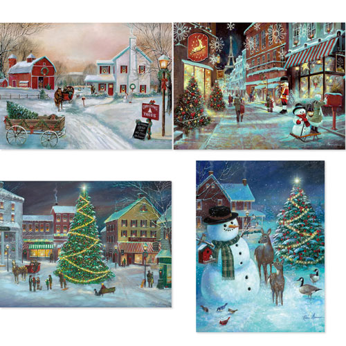 Set of 4: Ruane Manning 300 Large Piece Jigsaw Puzzle