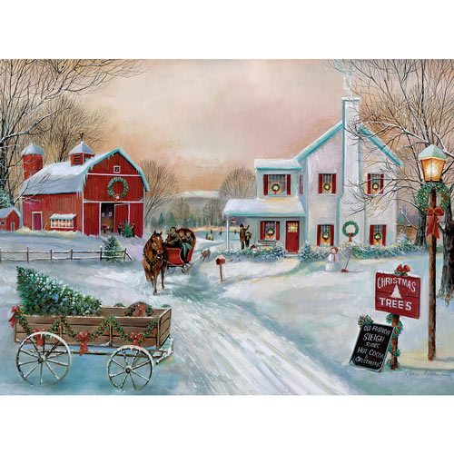 Old Fashioned Sleigh Ride 1000 Piece Jigsaw Puzzle