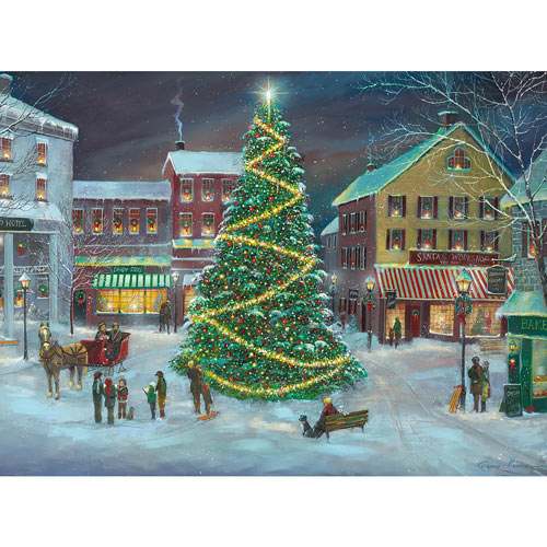 Village Christmas Tree 1000 Piece Jigsaw Puzzle