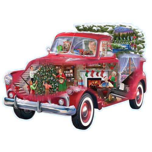 Christmas Truck 300 Large Piece Shaped Jigsaw Puzzle