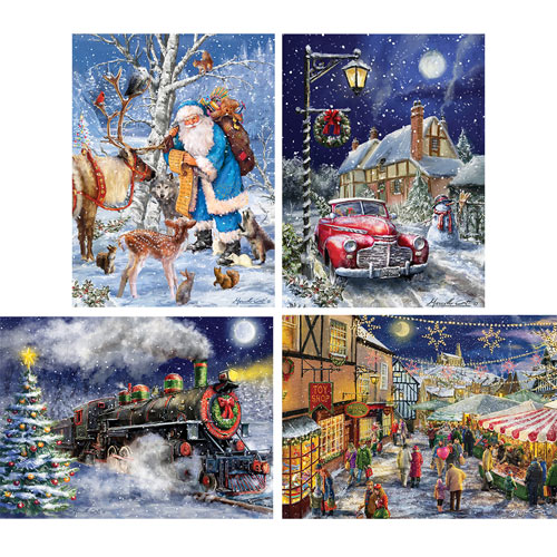 Set of 4: Marcello Corti 1000 Piece Jigsaw Puzzles