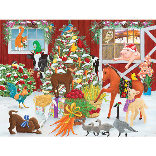 Christmas Farm 300 Large Piece Jigsaw Puzzle