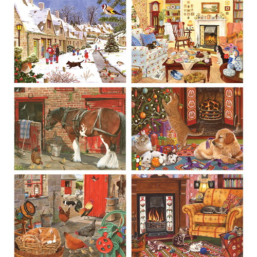 Set of 6: Tracy Hall 500 Piece Jigsaw Puzzles