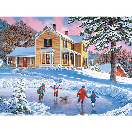 Skating Party 500 Piece Jigsaw Puzzle