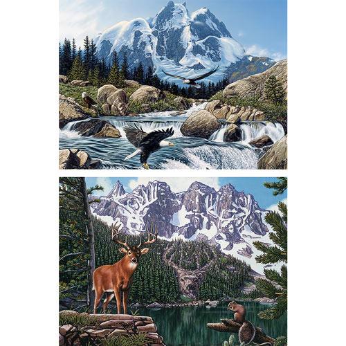 Set of 2: Hidden Image 1000 Piece Jigsaw Puzzles