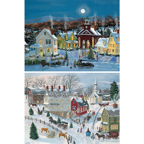Set of 2: Bob Fair 1000 Piece Jigsaw Puzzles