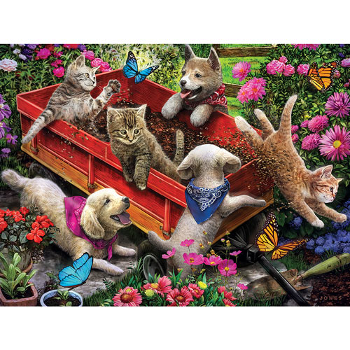 Wagon Fun 300 Large Piece Jigsaw Puzzle