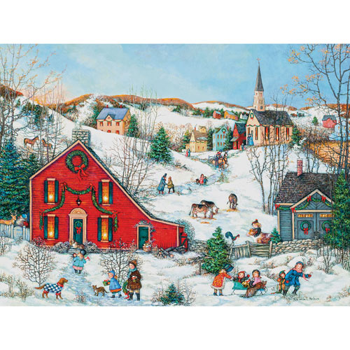 The Christmas Salt Box 300 Large Piece Jigsaw Puzzle