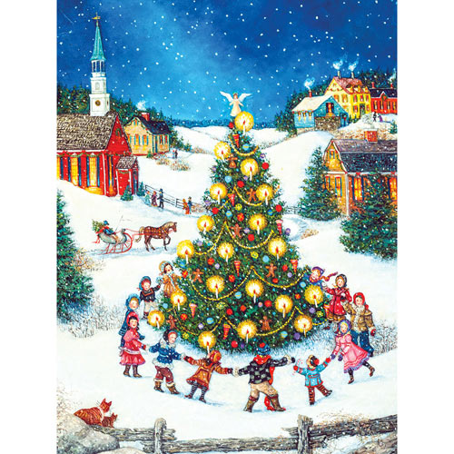 Dancing Around the Christmas Tree 300 Large Piece Jigsaw Puzzle