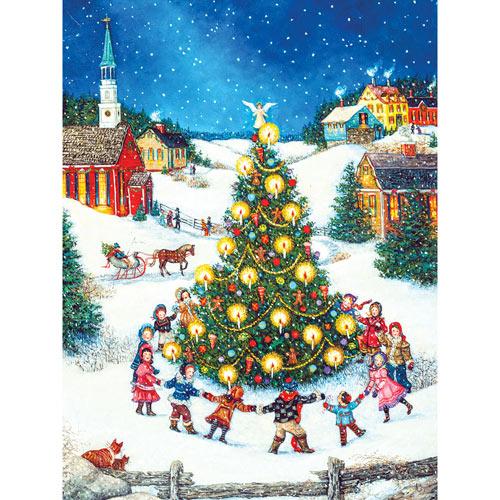 Dancing Around the Christmas Tree 500 Piece Jigsaw Puzzle