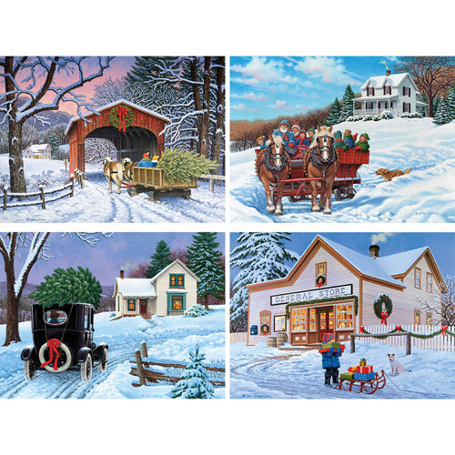 Set of 4: John Sloane 500 Piece Jigsaw Puzzles
