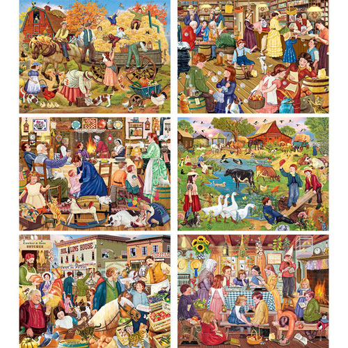 Set of 6: Rosiland Solomon 300 Large Piece Puzzles