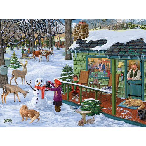 Maple Sap Time of Year 300 Large Piece Jigsaw Puzzle