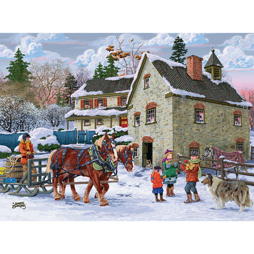 Winter Chores 300 Large Piece Jigsaw Puzzle