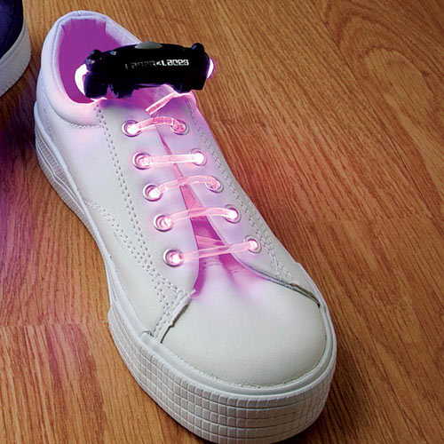 Pair of Pink Laser Laces