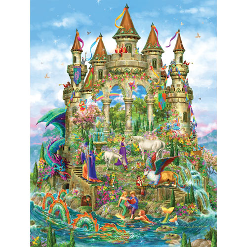 Fantasy Castle 750 Piece Shaped Jigsaw Puzzle