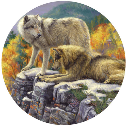 In the Wild 500 Piece Round Jigsaw Puzzle