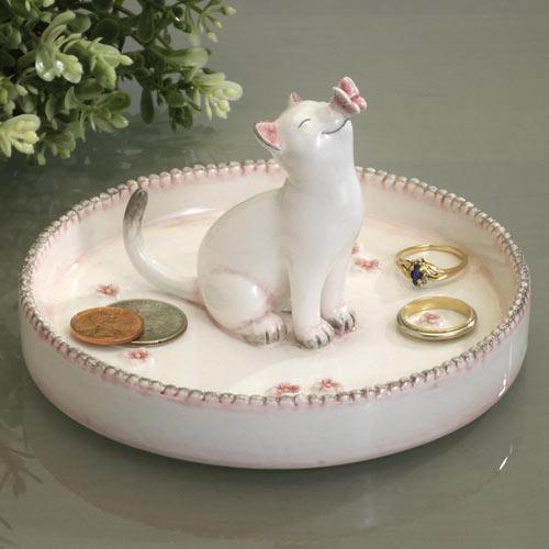 Ceramic Cat Jewelry Plate