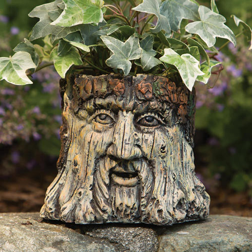 Tree Face Garden Planter Statue