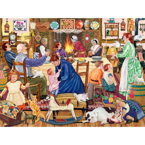 Grandpa's Birthday Kitten 500 Piece Jigsaw Puzzle