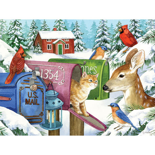 Winter Mailboxes 300 Large Piece Jigsaw Puzzle