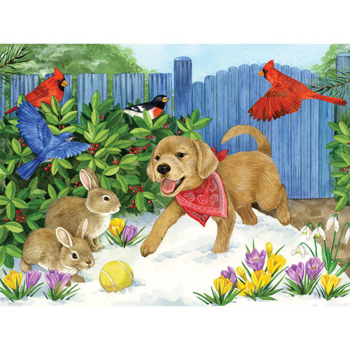Winter Pals 300 Large Piece Jigsaw Puzzle