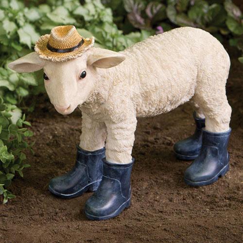 Lamb in Boot Garden Statue