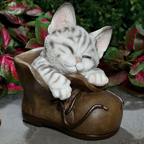 Contented Kitten Garden Sculpture