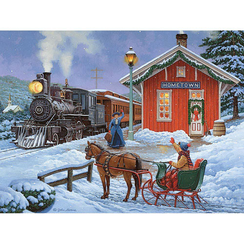 Home for the Holidays 300 Large Piece Glow-In-The-Dark Jigsaw Puzzle