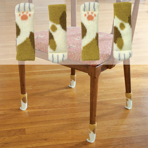 Cat Paw Chair Yarn Socks