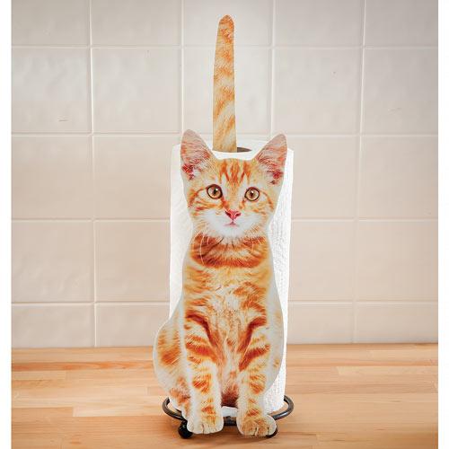 Yellow Kitty Paper Towel Holder