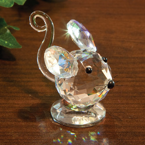 Iridescent Collectible Crystal Mouse
