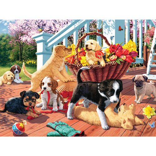 Hidden Image Puppy Mischief 300 Large Piece Jigsaw Puzzle