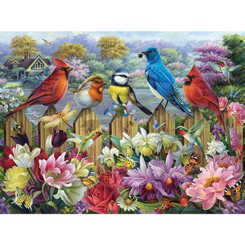 Birds In A Blooming Garden 1000 Piece Jigsaw Puzzle