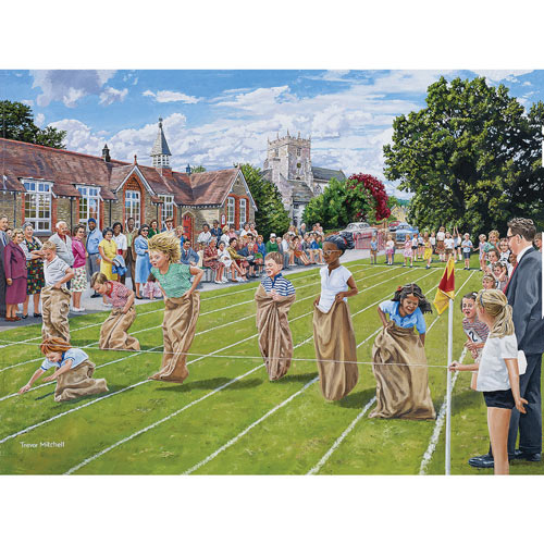 School Sports Day 300 Large Piece Jigsaw Puzzle