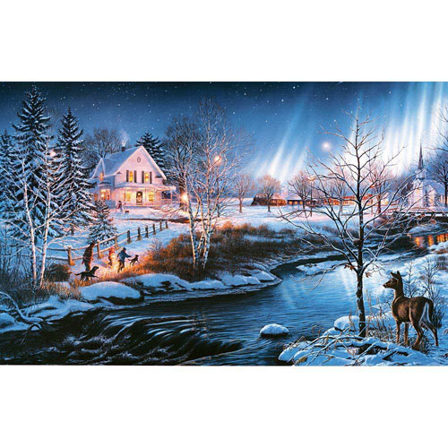 All Is Bright 300 Large Piece Glow-In-the-Dark Jigsaw Puzzle