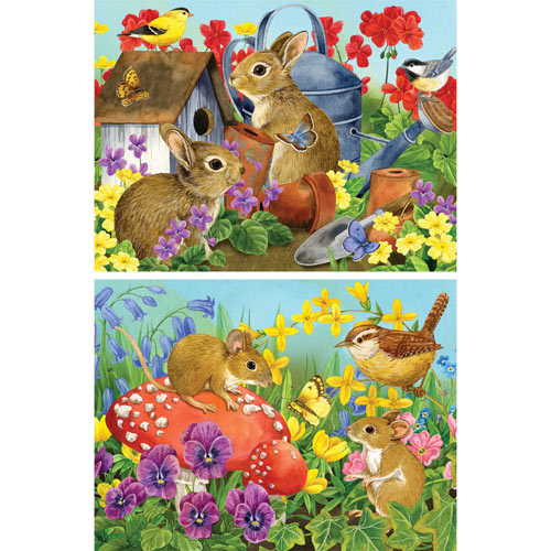 Set of 2 Pre-Boxed: Jane Maday 300 Large Piece Jigsaw Puzzles