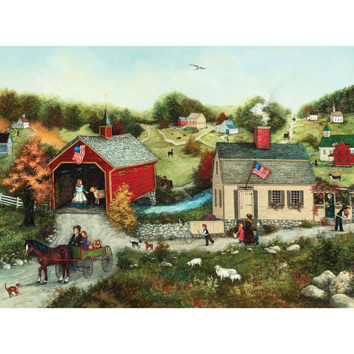 Cutter's Covered Bridge 1000 Piece Jigsaw Puzzle