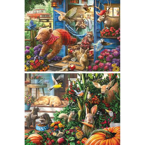Set of 2 Pre-Boxed: Larry Jones 500 Piece Jigsaw Puzzles