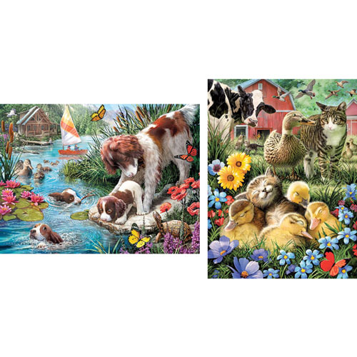 Set of 2: Pre-Boxed: Larry Jones 500 Piece Jigsaw Puzzles