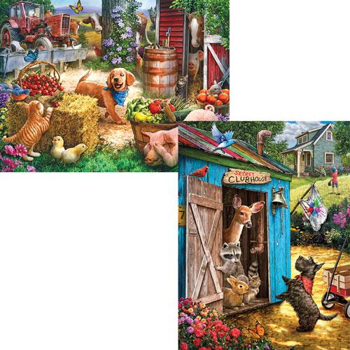 Set of 2: Pre-Boxed: Larry Jones 500 Piece Jigsaw Puzzles