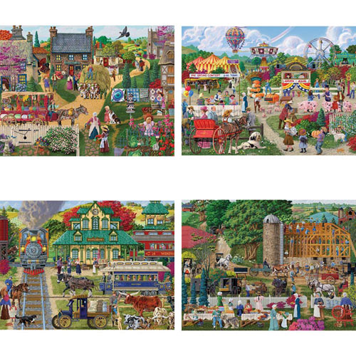 Set of 4: Joseph Burgess 1000 Piece Jigsaw Puzzles